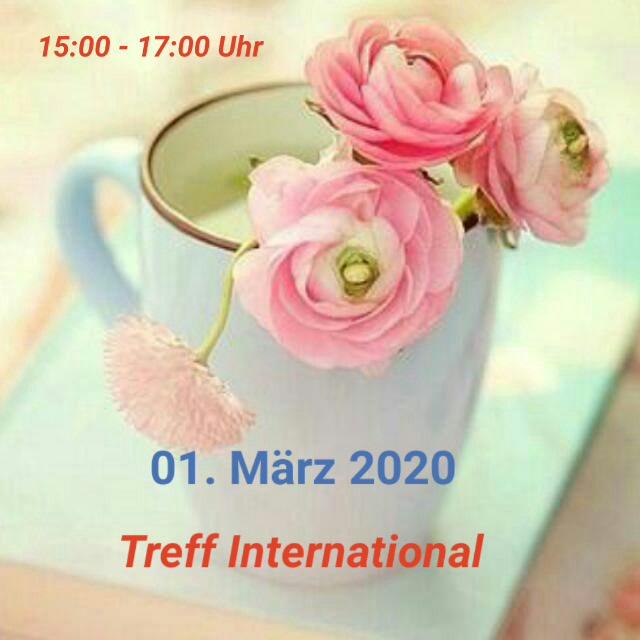 """Einladung zum offenen """"Treff International"""" in der Alten Schule"""